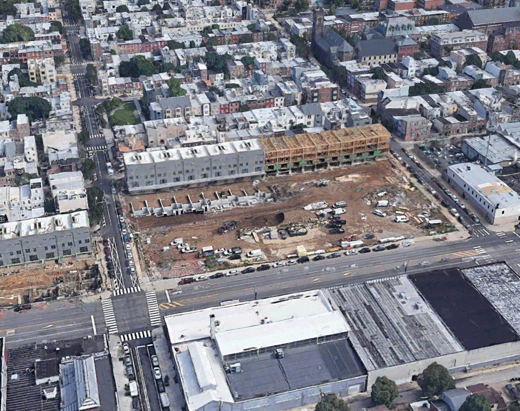 Aerial view of 2101 Washington Avenue. Credit: Google.