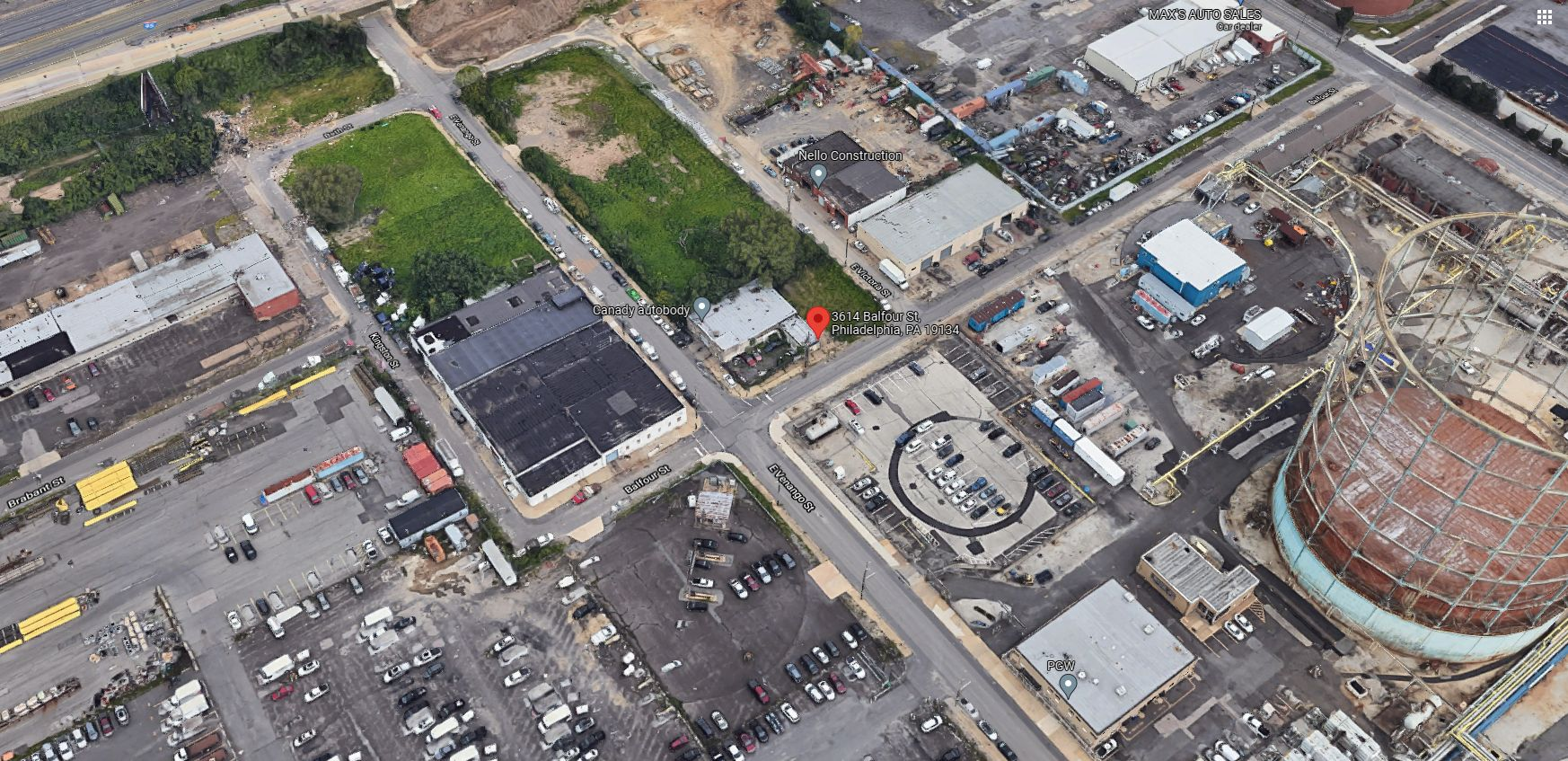 3614 Balfour Street. Looking north. Credit: Google Maps