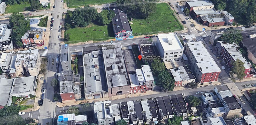 3616 Haverford Avenue. Looking north. Credit: Google Maps