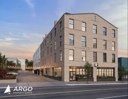 Rendering of Chelten Terminak at 235 West Chelten Avenue. Credit: Ambit Architecture. Image via Argo Property Group.