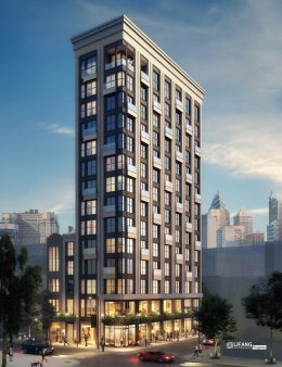 Rendering of the Blue Ivy Hotel. Credit: DAS Architects.