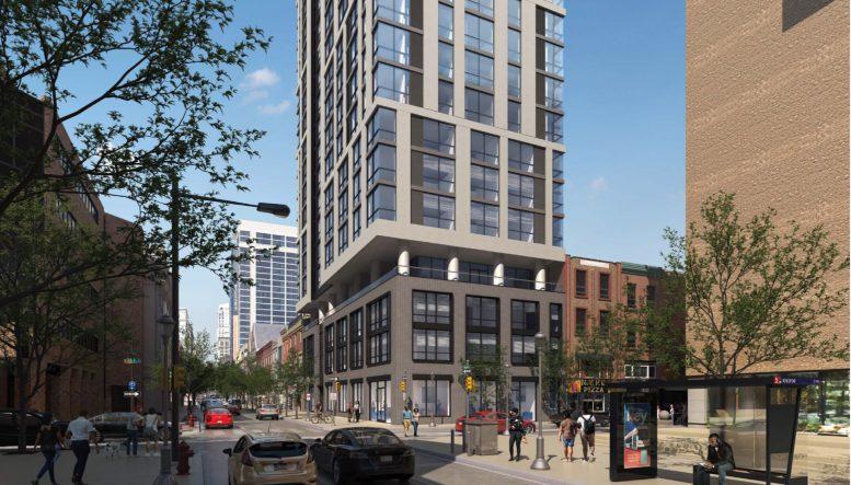 Rendering of 1101 Walnut Street. Credit: JKRP Architects.