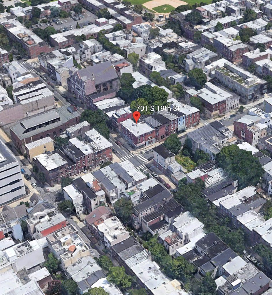 Former aerial view of 701 South 19th Street. Credit: Google.