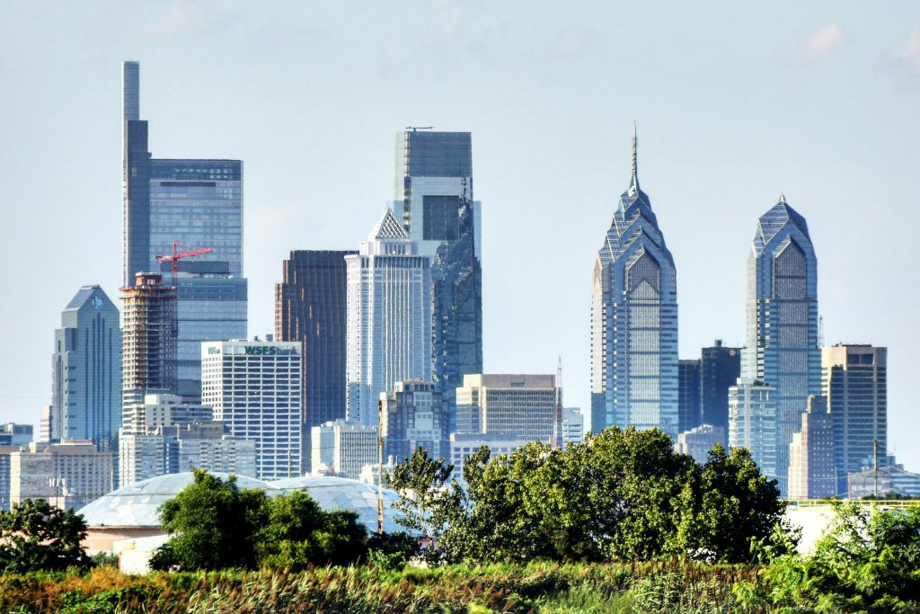 The Laurel Rittenhouse in the Philadelphia skyline from I-95 South. Photo by Thomas Koloski