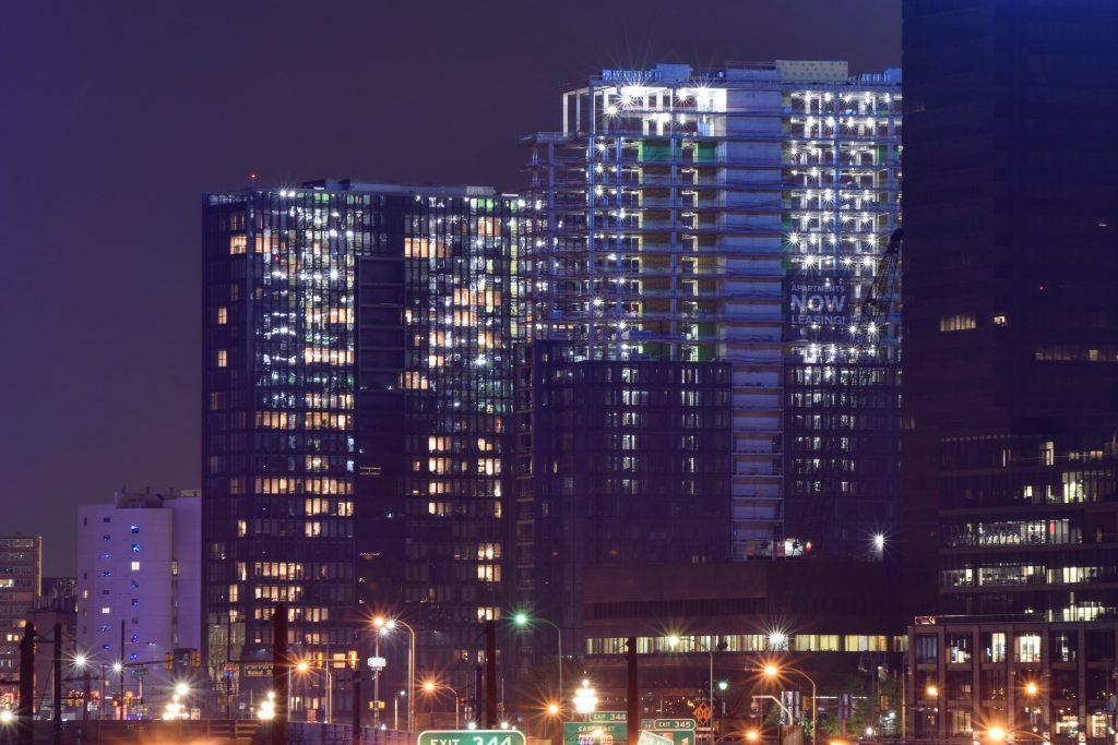 Riverwalk towers from South Street Bridge. Photo by Thomas Koloski