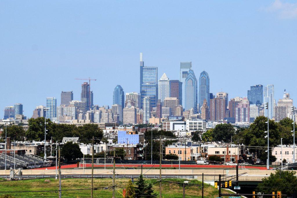 Riverwalk (left) in the Philadelphia skyline. Photo by Thomas Koloski