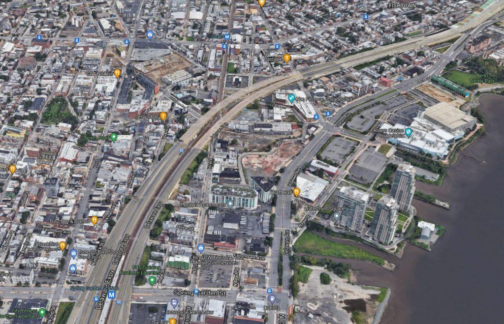 Northeast Northern Liberties. Credit: Google Maps