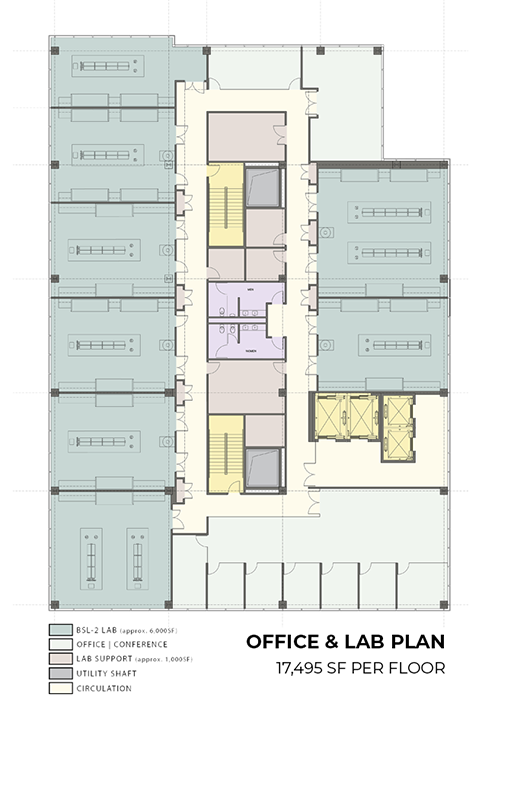 Office lab floor plan. Image via ultralabsphiladelphia.com