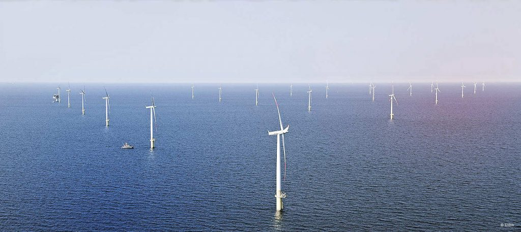 An offshore wind farm. Credit: A monopile. Credit: EEW-AOS