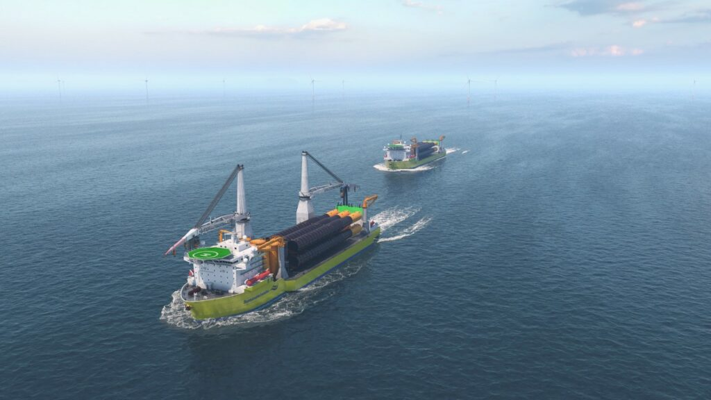 Offshore monopile delivery. Credit: Offshoretronic