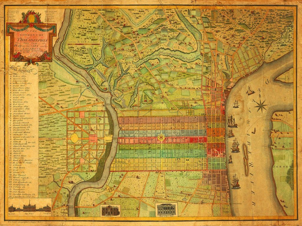 Philadelphia 1802 map. Credit: Charles P. Varle