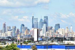 Philadelphia skyline from the Walt Whitman Bridge September 2021. Photo by Thomas Koloski