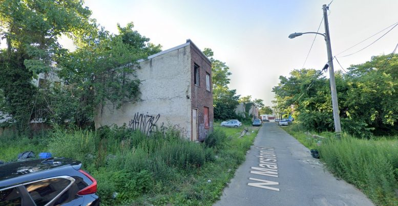 1420 North Marston Street. Looking northwest. Credit: Google Maps