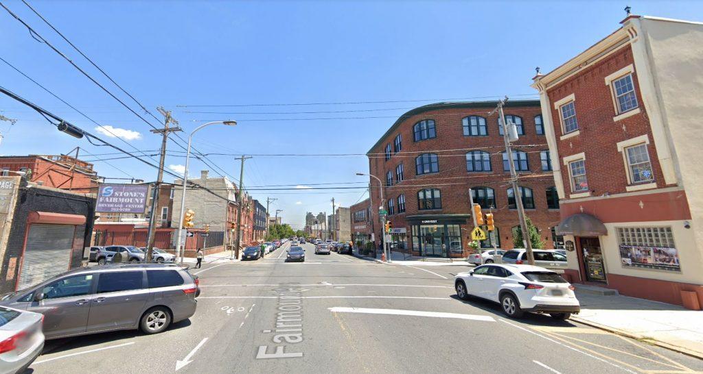 Fairmount Avenue, with 1701 Fairmount Avenue on the left. Looking east. Credit: Google Maps
