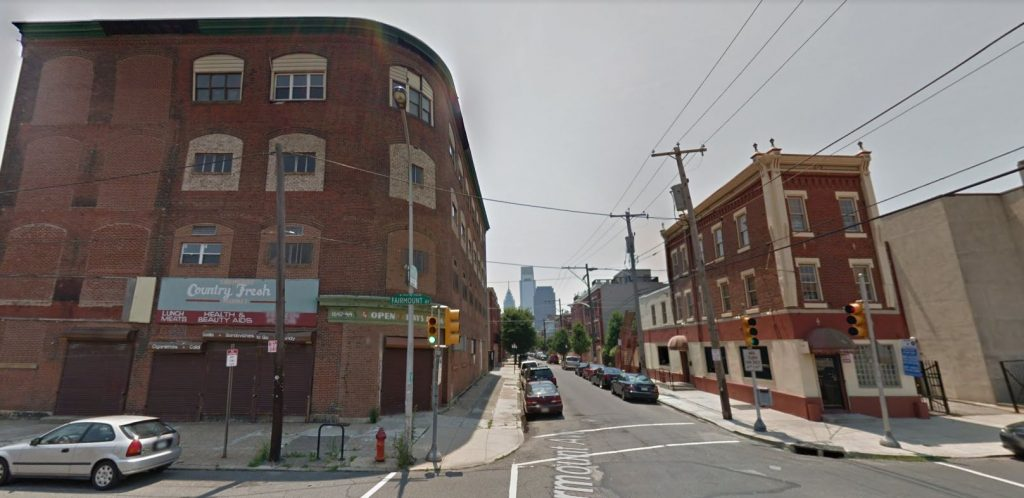 1644 Fairmount Avenue (left). Looking south. June 2012. Credit: Google Maps