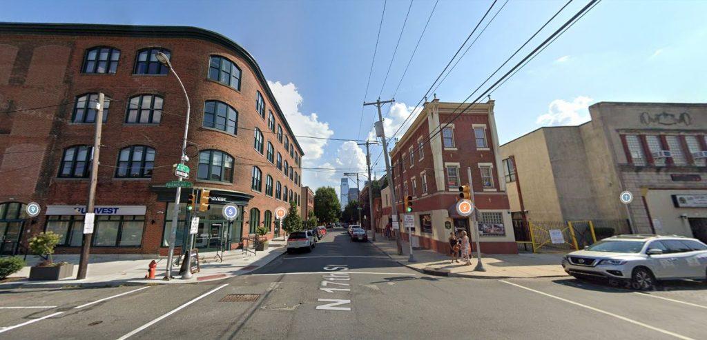 1644 Fairmount Avenue (left). Looking south. August 2019. Credit: Google Maps