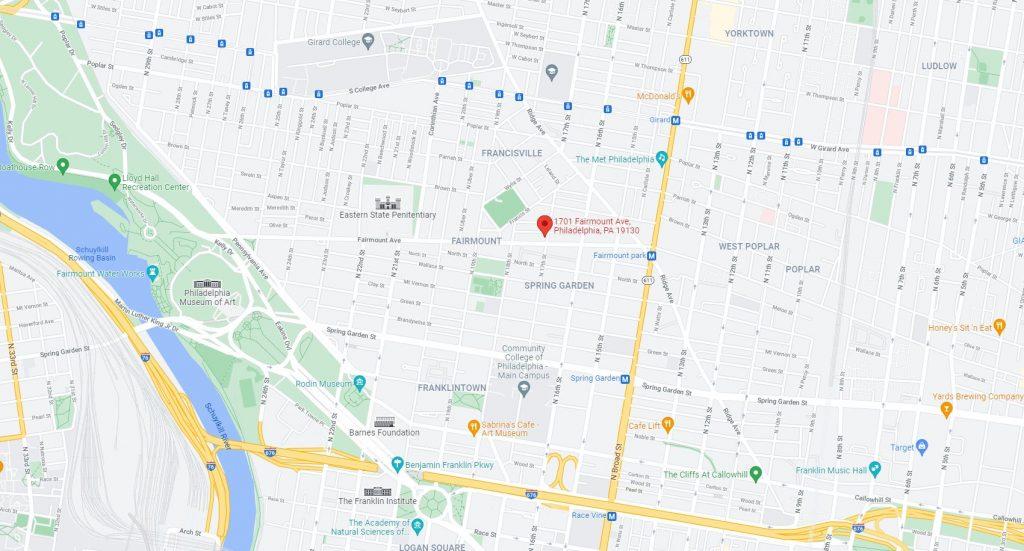 1701 Fairmount Avenue. Credit: Google Maps