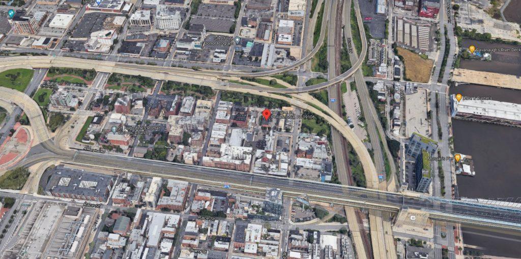 207-11 Vine Street. Looking north. Credit: Google Maps
