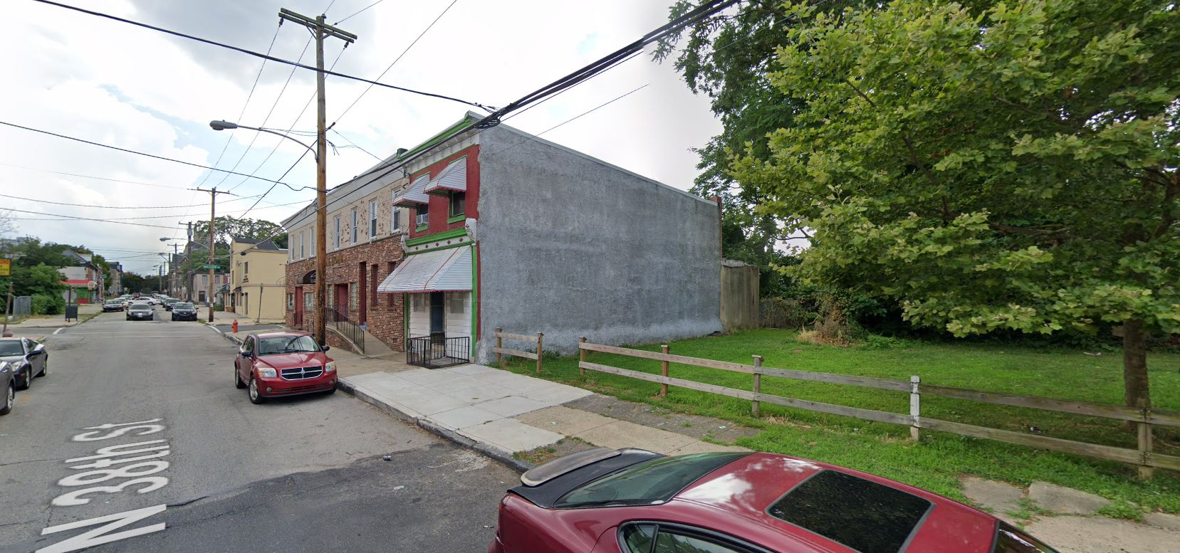 648 North 38th Street. Looking southwest. Credit: Google Maps