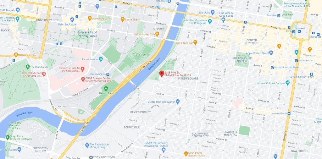 2608 Pine Street and 2610 Pine Street. Credit: Google Maps