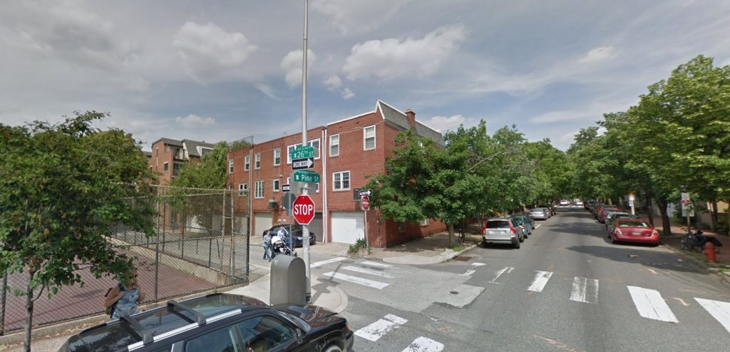 339-345 South 26th Street. May 2014. Looking northeast. Credit: Google Maps