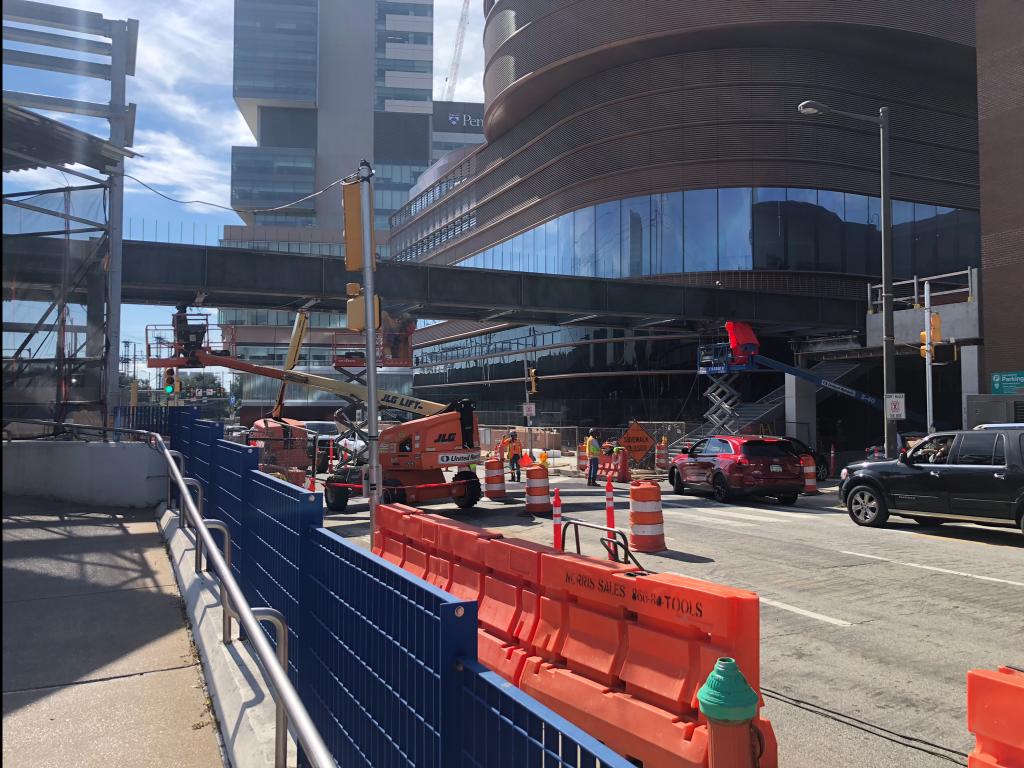 Current view of The Pavilion's pedestrian bridge. Credit: Colin LeStourgeon.