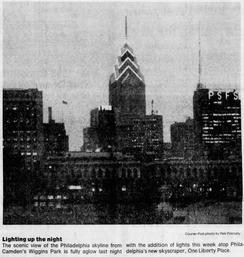 Philadelphia skyline. Image by Courier Post