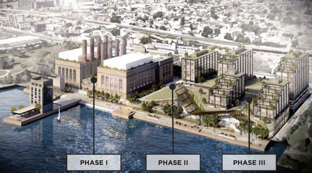 Rendering of Generating Facility after residential conversion.