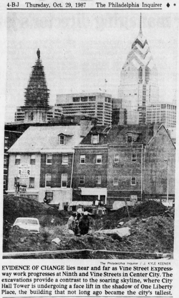 City Hall and One Liberty Place. Image by The Philadelphia Inquirer